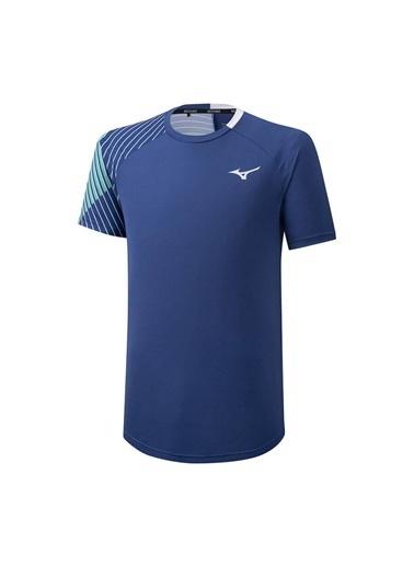 Mizuno Shadow Tee Erkek T-shirt Lacivert/Beyaz Mavi
